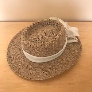 Straw Beach Hat with Ribbon